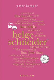Helge Schneider. 100 Seiten (Reclam 100 Seiten)