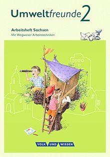 Umweltfreunde - Sachsen - Ausgabe 2016: 2. Schuljahr - Arbeitsheft: Mit Wegweiser Arbeitstechniken