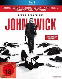 John Wick + John Wick: Kapitel 2 – Limited Fan Edition (2 Blu-rays in veredelter O-Card)