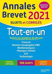 Annales Brevet 2021 Tout-en-Un (Annales du Brevet)