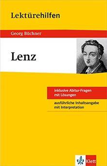 Klett Lektürehilfen Georg Büchner, Lenz: für Oberstufe und Abitur