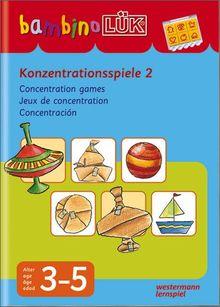 bambinoLÜK-System: bambinoLÜK: Konzentrationsspiele 2: 3-5 Jahre: Für Kinder ab 3 J