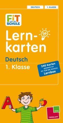 Fit für die Schule: Lernkarten Deutsch 1. Klasse