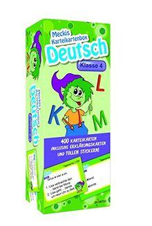 Karteibox Deutsch Klasse 4: mit 400 farbigen Karteikarten und tollen Stickern