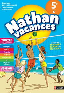 Nathan Vacances Toutes les matières de la 5e vers la 4e
