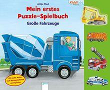 Große Fahrzeuge: Kiddilight. Mein erstes Puzzle-Spielbuch