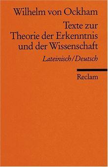 Universal-Bibliothek Nr. 8239(3): Texte zur Theorie der Erkenntnis und der Wissenschaft: Lat. /Dt