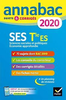 Annales Annabac 2020 SES Tle ES Spécifique & spécialités: sujets et corrigés du bac Terminale ES (Annabac (8))
