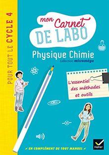 Physique Chimie Cycle 4 : Mon carnet de labo