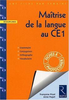Maîtrise de la langue au CE1