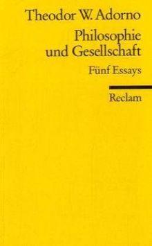 Philosophie und Gesellschaft: Fünf Essays