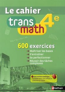 Mathématiques 4e : Le cahier