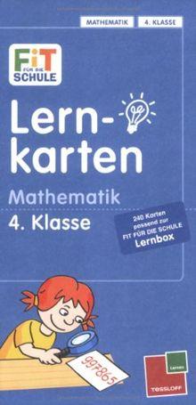 Fit für die Schule: Lernkarten Mathematik 4. Klasse: Mit 240 Lernkarten