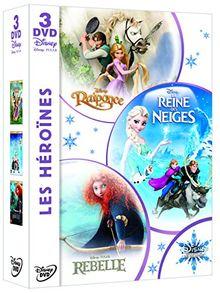 Coffret héroïnes : la reine des neiges ; raiponce ; rebelle