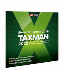 Lexware Taxman 2019|in frustfreier Verpackung|Übersichtliche Steuererklärungssoftware für Arbeitnehmer, Familien, Studenten und im Ausland Beschäftigte|Kompatibel mit Windows 7 oder aktueller
