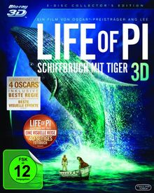Life of Pi - Schiffbruch mit Tiger 3D [Blu-ray 3D] [Collector's Edition]
