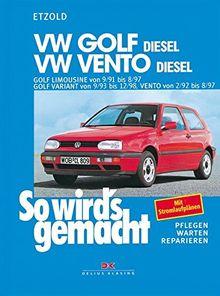 VW Golf III Diesel 9/91 bis 8/97, Vento Diesel 2/92 bis 8/97: So wird's gemacht - Band 80