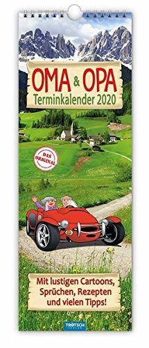 """Maxi-Streifenkalender """"Oma und Opa"""" 2020: 15 x 42 cm, mit aufwendiger Rückseitengestaltung"""