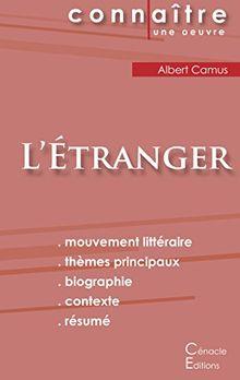 Fiche de lecture L'Étranger de Albert Camus (analyse complète)