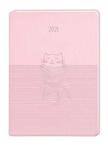 "Terminplaner Lederlook A6 ""Rosa"" 2021"