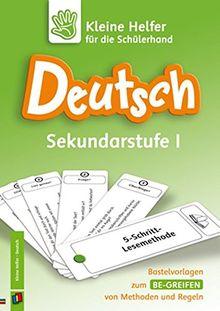 Deutsch Sekundarstufe I: Bastelvorlagen zum Be-greifen von Methoden und Regeln (Kleine Helfer für die Schülerhand)