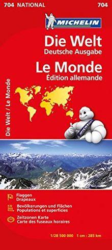 Die Welt politisch (Michelin Nationalkarte)