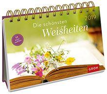 Die schönsten Weisheiten 2019: PostkartenKalender mit separatem Wochenkalendarium