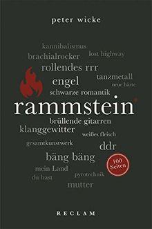 Rammstein. 100 Seiten (Reclam 100 Seiten)
