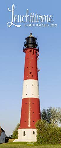 Leuchttürme 2021: Schmaler Wandkalender. Foto-Kunstkalender über den Leuchtturm an der Küste. PhotoArt Vertikal. 28,5 x 69 cm.
