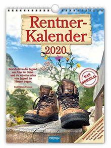 """Classickalender """"Rentner"""" 2020: 24 x 33 cm, mit aufwendiger Rückseitengestaltung"""