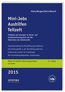 Mini-Jobs, Aushilfen, Teilzeit 2015