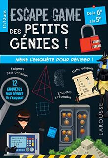 Escape game des petits génies 6e-5e (Jeux et activités)
