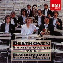 Beethoven - Sinfonien Nr. 7 + 8 (für Bläser)