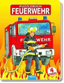 Puzzlebuch Feuerwehr: 4 Puzzle, je 12 Teile