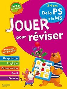 Jouer pour réviser 3-4 ans - De la PS à la MS : Avec un crayon-gomme