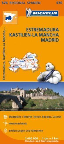 Estremadura, Kastilien (Regionalkarten)