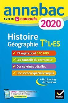 Annales Annabac 2020 Histoire-Géographie Tle L, ES (Annabac (6))