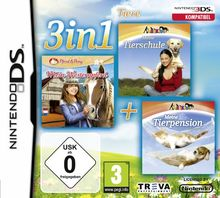 3 in 1: Meine Tierschule + Mein Westernpferd + Meine Tierpension - Tapsige Tierbabys - [Nintendo DS]