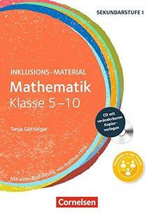 Inklusions-Material: Mathematik - Klasse 5-10: Buch mit CD-ROM