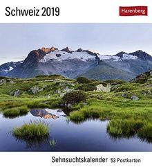 Schweiz - Kalender 2019: Sehnsuchtskalender, 53 Postkarten