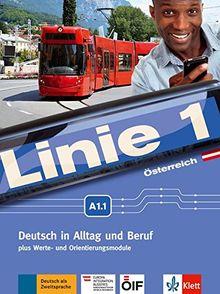 Linie 1 Österreich A1.1: Kurs- und Übungsbuch mit Video und Audio auf DVD-ROM