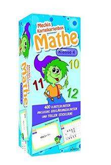 Karteibox Mathe Klasse 4: mit 400 farbigen Karteikarten und tollen Stickern