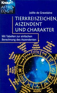 Tierkreiszeichen, Aszendent und Charakter. Mit Tabelle zur ...