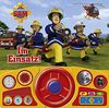 Im Einsatz! - Soundbuch - Feuerwehrmann Sam - Pappbilderbuch mit beweglichem Lenkrad und 13 lustigen Geräuschen für Kinder ab 3 Jahren