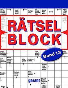 Rätselblock Band 13