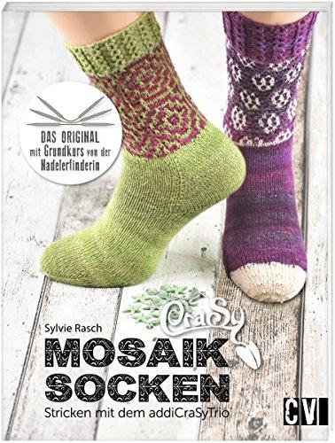 Crasy Mosaik Socken Stricken Mit Dem Addicrasytrio Von Sylvie Rasch