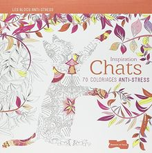 Inspiration chats : 70 coloriages anti-stress