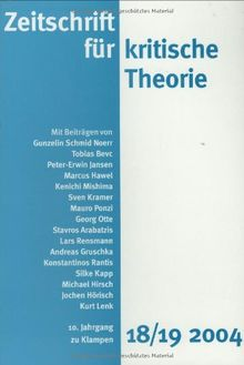 Zeitschrift für kritische Theorie: 18/19