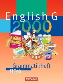 English G 2000, Ausgabe B, Grammatikheft für das 7. und 8. Schuljahr: Für Realschulen. 7./8. Schuljahr