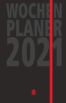 Wochenplaner 2021: Edler Kalender und Organizer, 2 Lesebändchen, Tasche für Visitenkarten, viel Platz für Notizen, verschließbar mit Gummizug